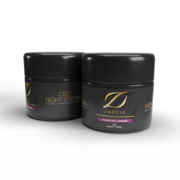 Zoetic 800mg CBD Night Cream 100ml Jasmine & Lavender
